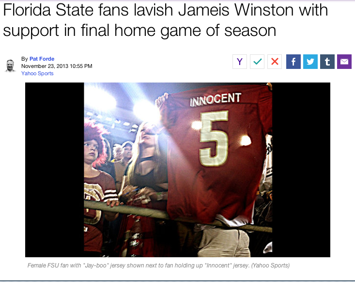 FSU QB and Alleged Rapist Jameis Winston Has a Sexy Fan, So, YOU KNOW.