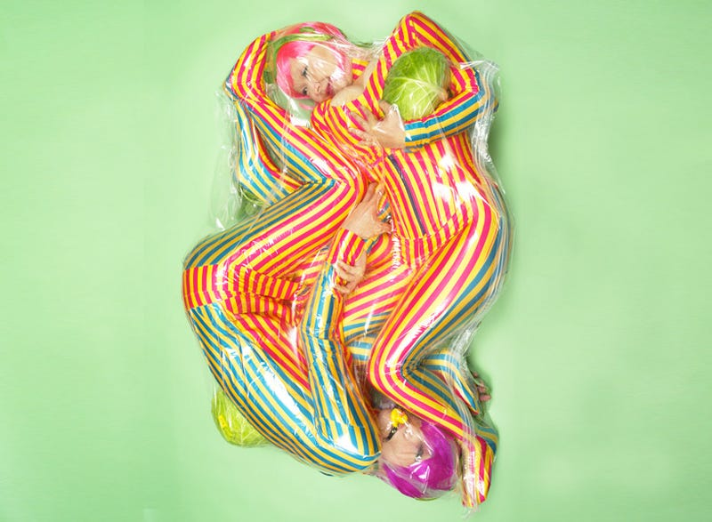 Men and Women Shrink-wrapped as Japanese Art