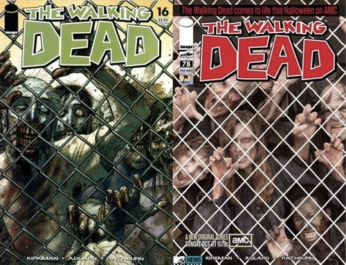 "Walking Dead cover remade in the ""living"" flesh"