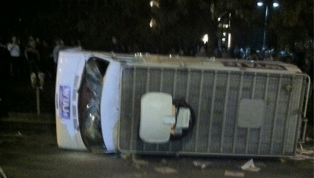 Penn State Students Flip Over A TV News Van In Solidarity With Incompetent, Morally Complicit Old Relic