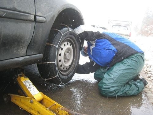 Fun With Tire Chains On I-80