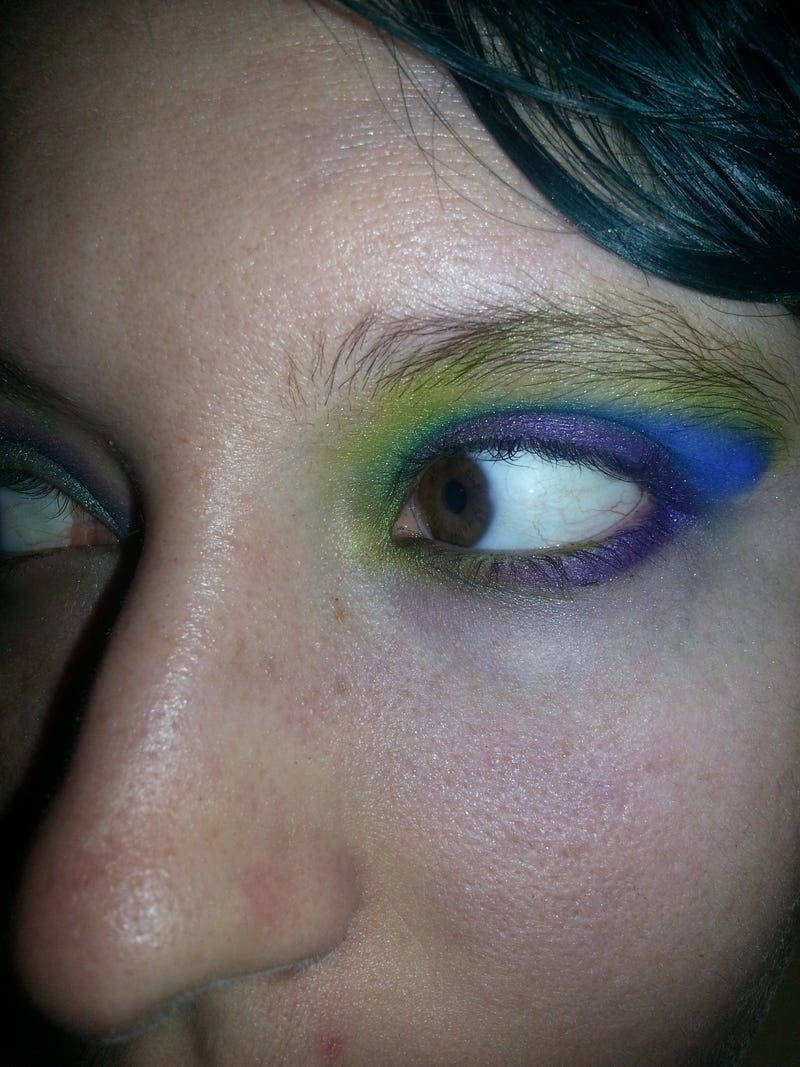 Quickie Electric Palette look