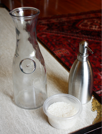 Clean Inside Irregular Bottles with Rice