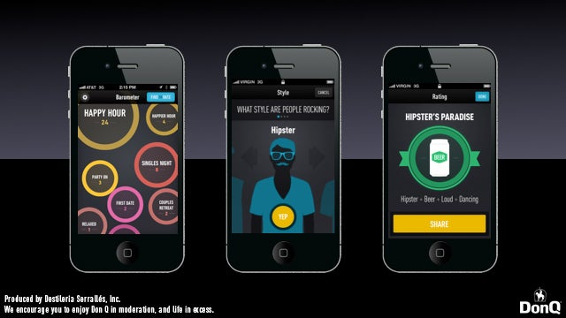 """Choose a Drinking Establishment According to """"Vibe"""" with Don Q's New Barometer App"""