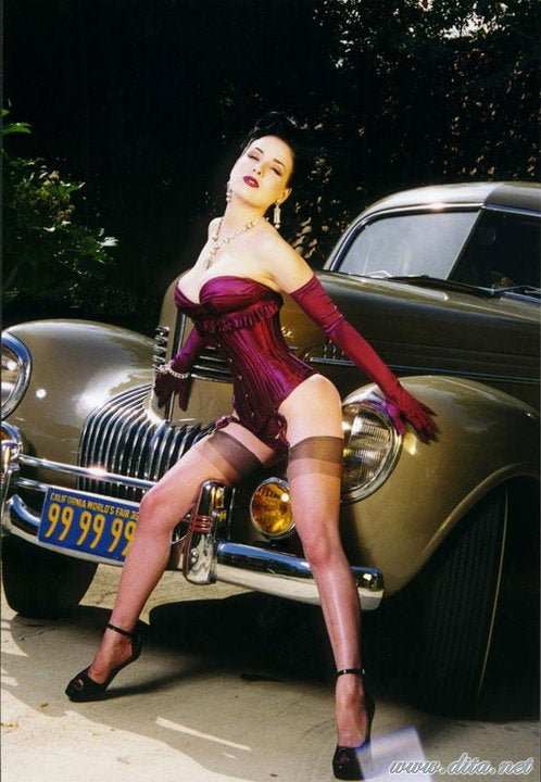 Dita Von Teese Flings Off Her '39 Chrysler New Yorker