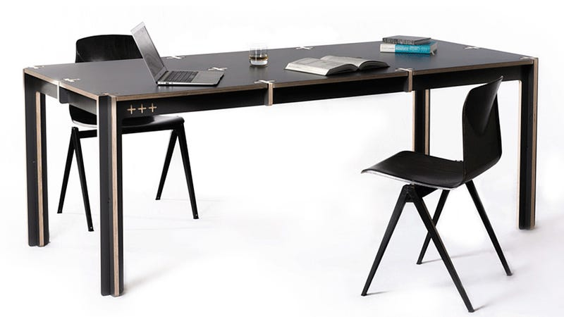 This Desk Assembles With Nothing But Manual Labor