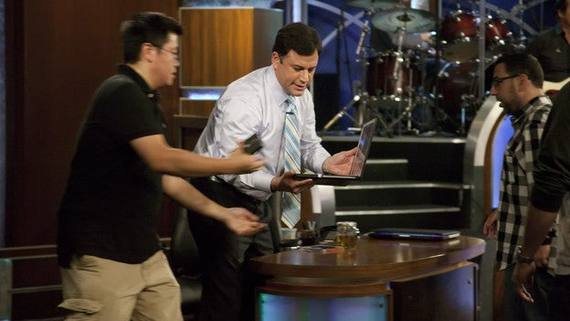 How Jimmy Kimmel Recorded Tonight's Show With a Laptop