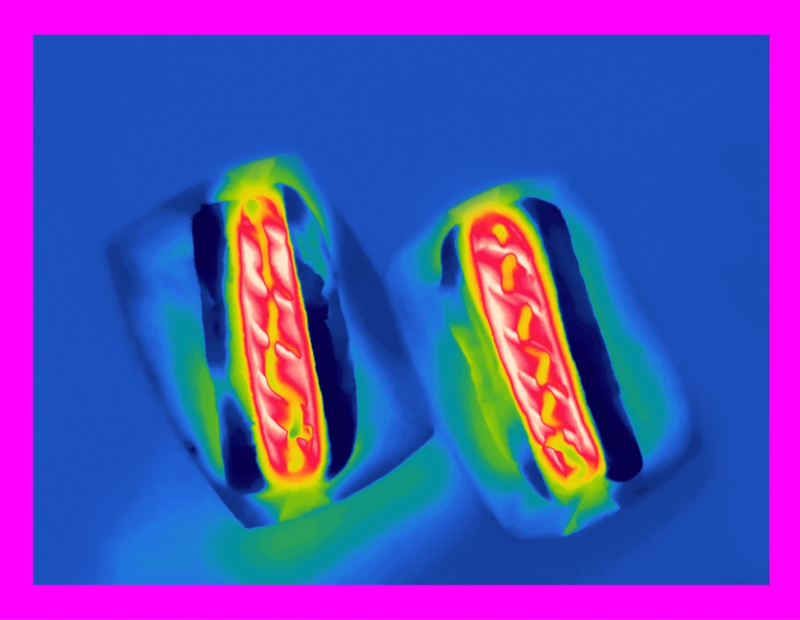 Thermal Photography Shows Even Pizza Emits Radiation