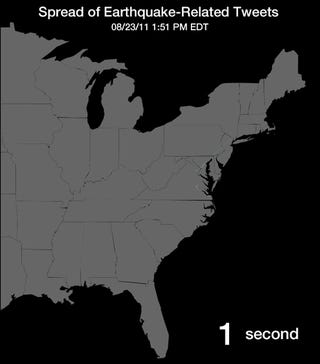 Watch The Virginia Earthquake Spread Across Twitter