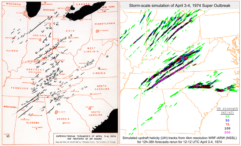 40 Years After '74 Super Outbreak, A Model Simulates & Nails Forecast