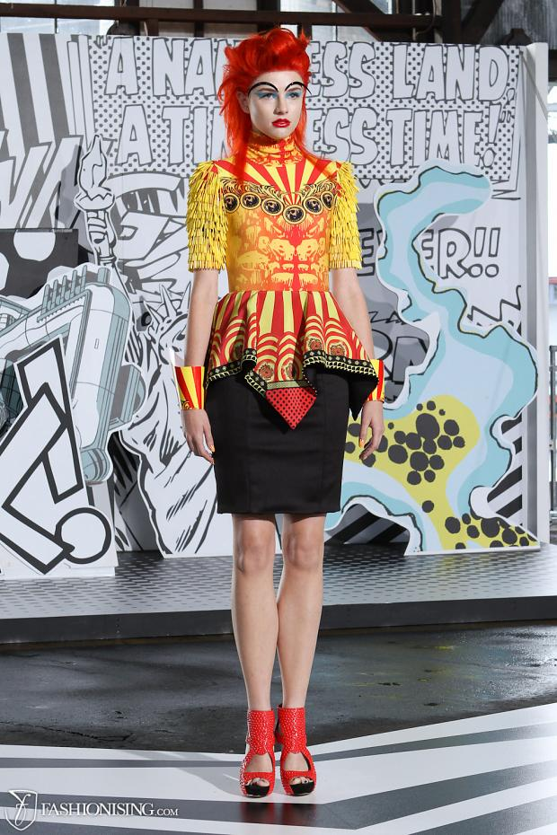 Marvel-inspired fashions bring the Avengers to the runway