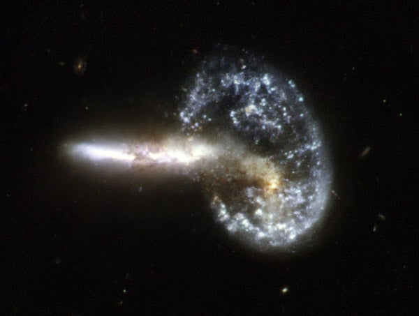 Hubble's Demolition Derby Of Galaxies