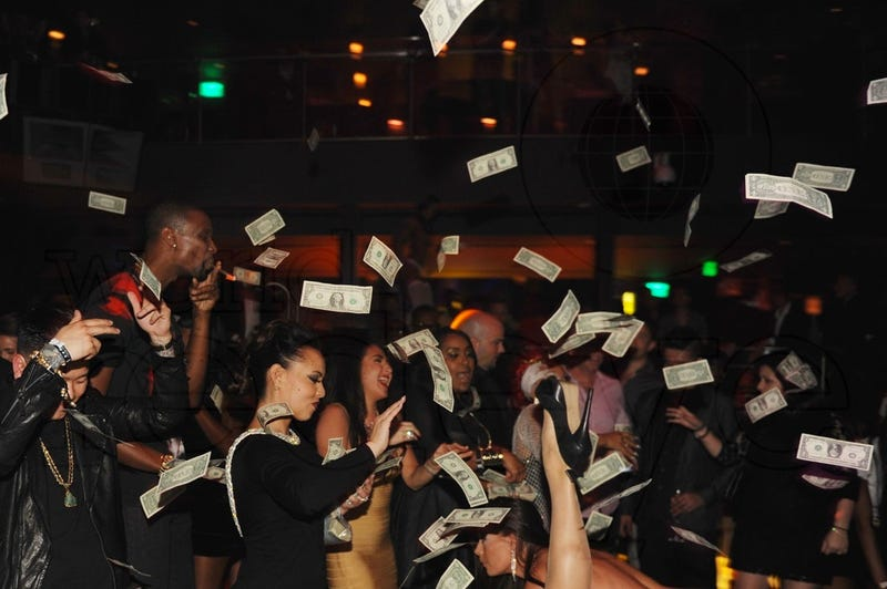 I Don't Understand This Picture Of Chris Bosh At The Strip Club
