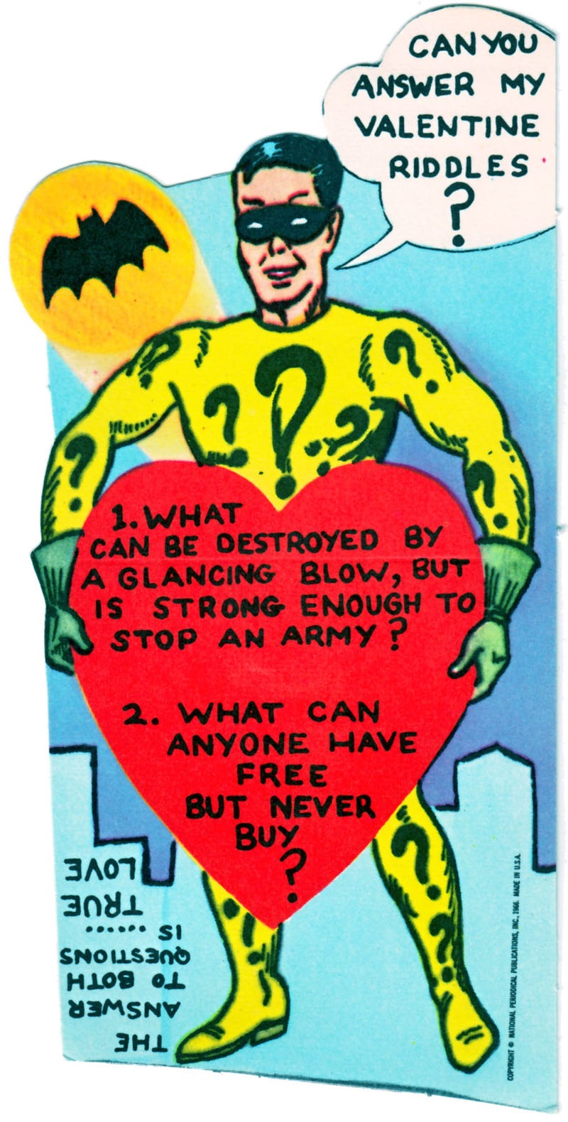 1960s Batman Valentine's Day Cards Are Weirdly Awesome