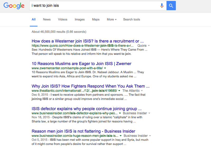 Google Now Shows 'Don't Do Jihad' Ad Results to ISIS Wannabes