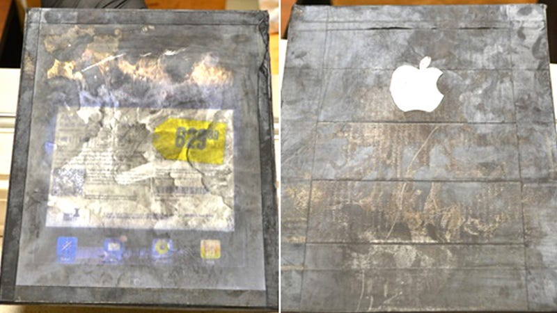 Woman Buys a Block of Wood with an Apple Logo Thinking It's an iPad