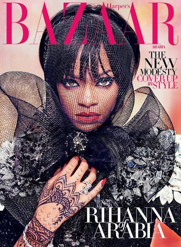 Rihanna Models 'The New Modesty' in Harper's Bazaar Arabia
