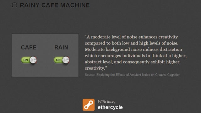 Rainy Cafe Machine Plays Ambient Noise to Soothe and Boost Productivity