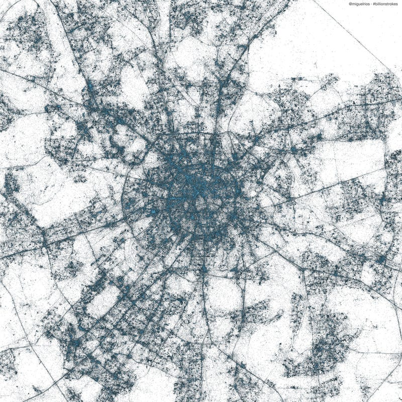 These stunning maps were made entirely from geotagged tweets