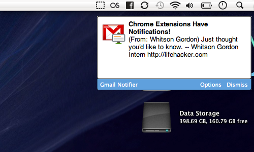 Chrome Extensions Get Desktop Notifications