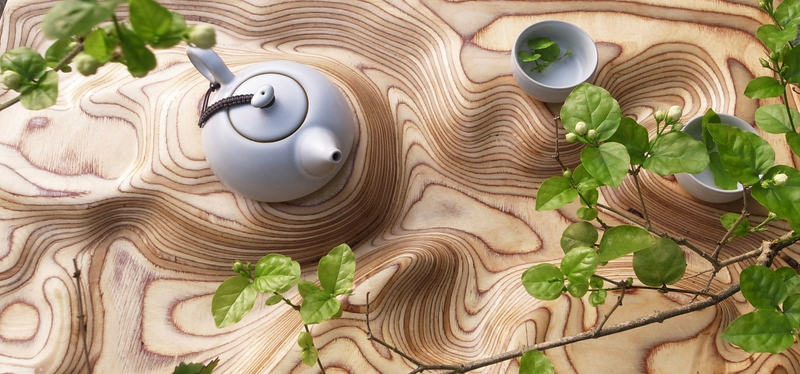 A Table That Looks Like Topography Is the Prettiest Way to Serve Tea