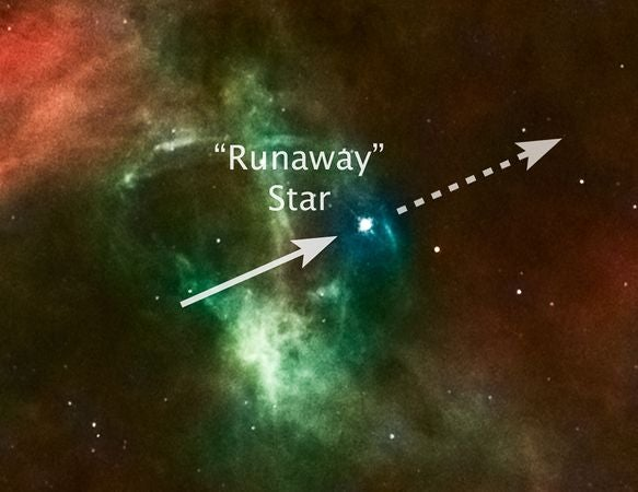 Monster Runaway Star Rampages Through Universe
