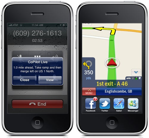 iPhone Navigation Apps Embrace iOS4 Multitasking: TomTom, CoPilot and Navigon