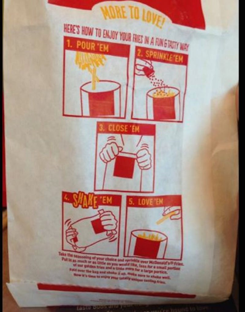 McDonald's French Fries: Soon With Seasoning Packets and Instructions