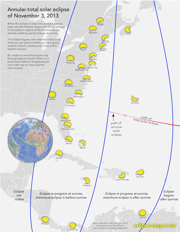 Everything you need to know to catch Sunday's rare hybrid solar eclipse