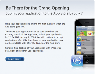 Apple Sets July 7 Cutoff Date For iPhone App Store Launch