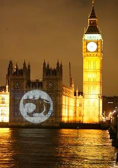 ThunderCats Were Loose On Palace of Westminster
