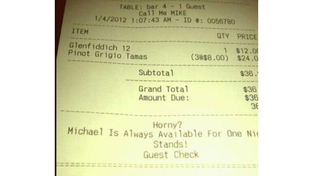 10 Insults Hidden on Restaurant Receipts
