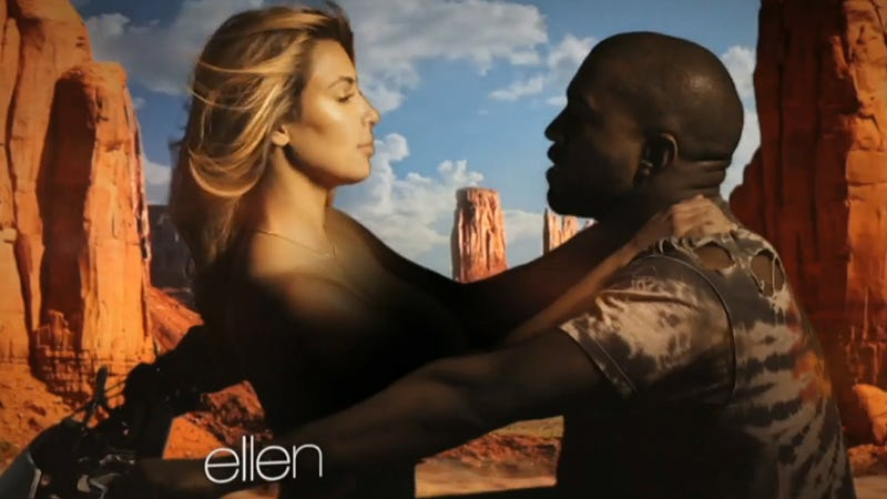 Kanye's Epic New Video: Horses, Eagles, Topless Kim Kardashian