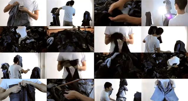 Watch a Guy Make Music with a 1000 Pairs of Jeans