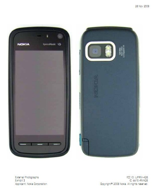 Nokia 5800 XpressMusic Appears on the FCC with 3G Support