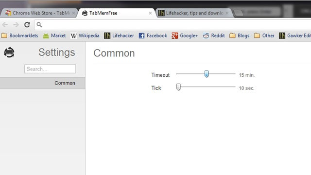 TabMemFree Unloads Old Chrome Tabs to Save Memory