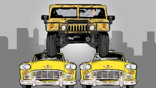 Here's What It's Like To Drive A Hummer In A Big, Crowded City