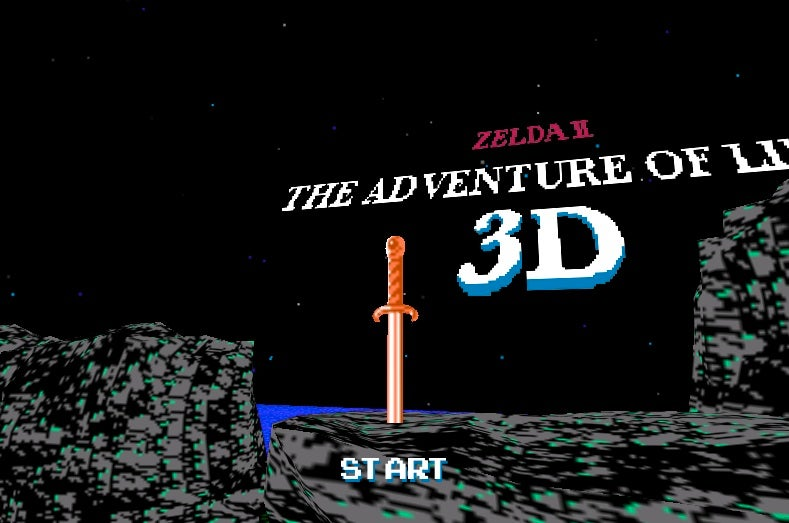 Play Zelda II As A First-Person Shooter