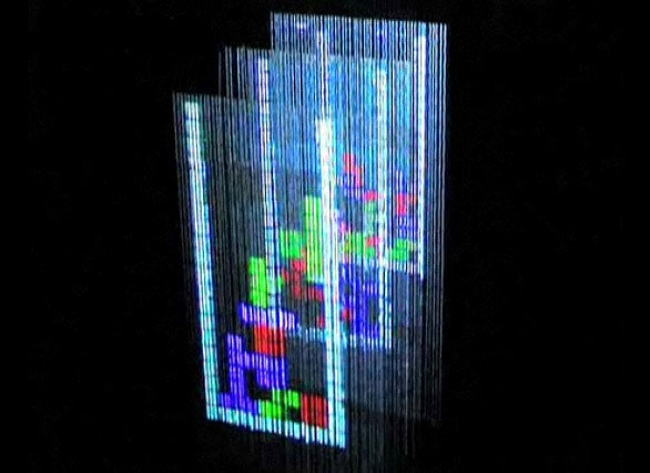 Playing Tetris On A 3D Display Made Of Water
