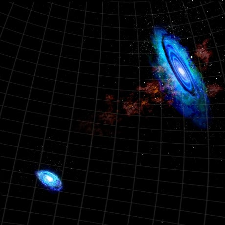 Near collision creates a bridge of gas between Andromeda and another galaxy
