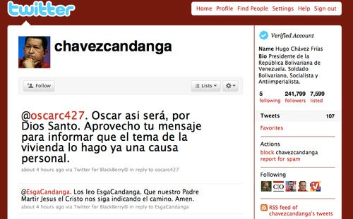 Hugo Chavez Creates Team of 200 Aides to Look After His Tweets