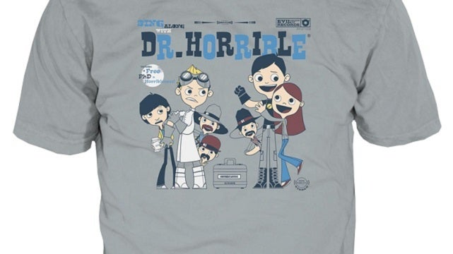 This Dr. Horrible T-shirt is worth cheering for