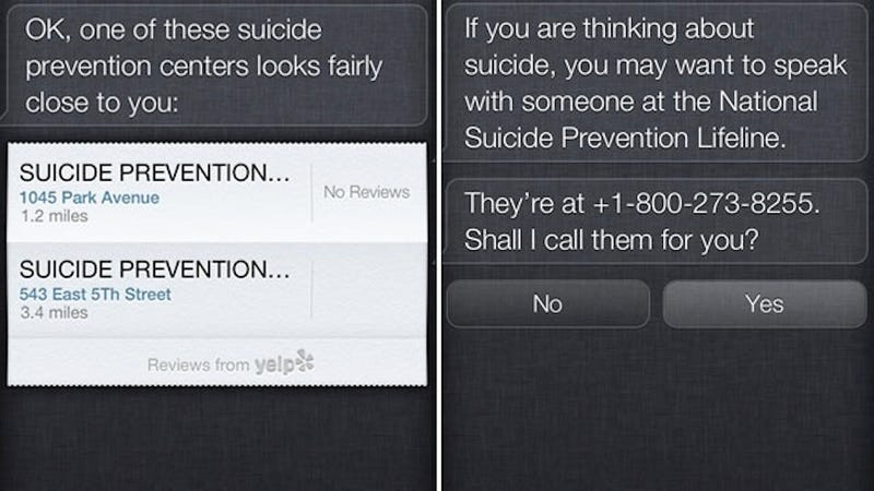 Extremely Mean Phone-Robot Siri Doesn't Want You to Kill Yourself