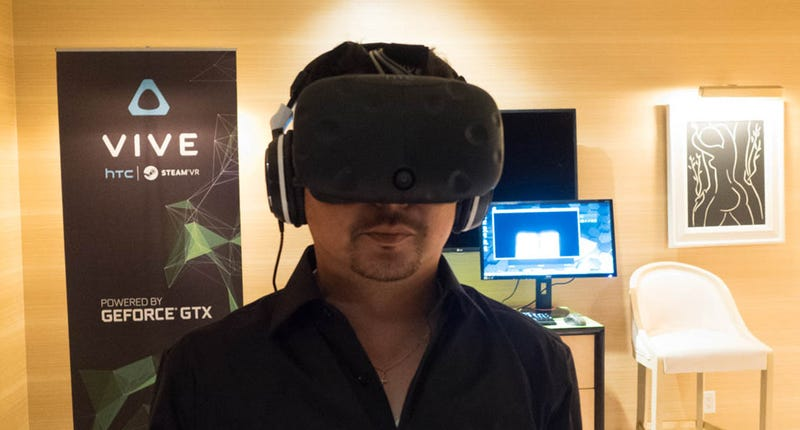 I Tried HTC's Newest Vive VR Headset. Here's What It Looks Like