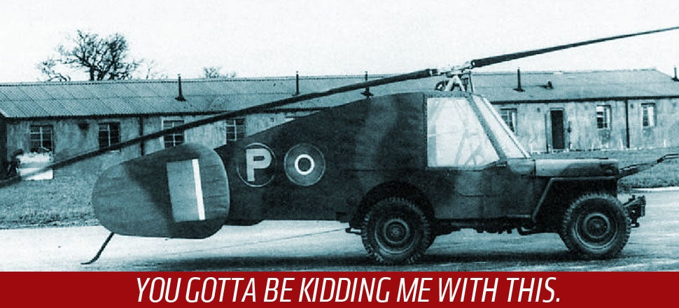 The Brits Actually Built This Crazy Flying Jeep