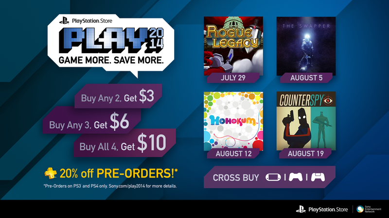 Game More, Save More With PlayStation Store PLAY 2014 Event