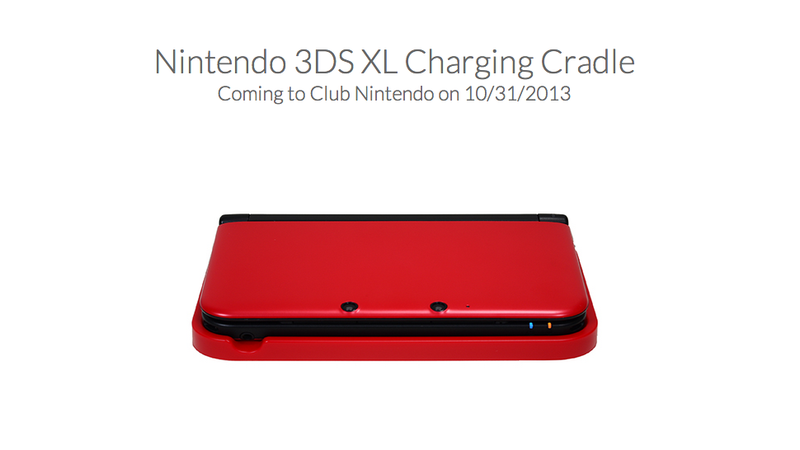 Club Nintendo is Offering Color 3DS XL Charging Cradles on Oct. 31