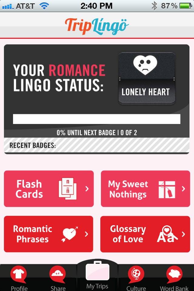 TripLingo Romance Edition Gallery
