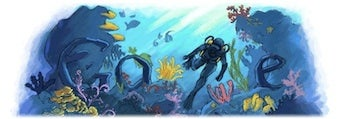 Google Doodle Celebrates Jacques Cousteau Too