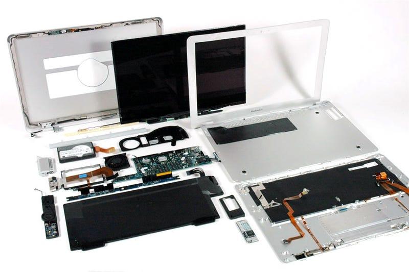 MacBook Air Fully Disassembled